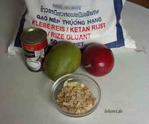 Kochen mit lek klebe reis mit mango - Reis kochen mikrowelle ...